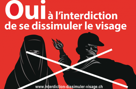 OUI à l'interdiction de se dissimuler le visage