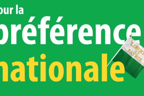 La préférence nationale est la clé pour relancer l'économie et préserver les emplois